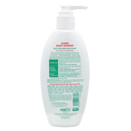 Acnes Body Shower - Sữa Tắm Trị Mụn Lưng ngăn ngừa mụn
