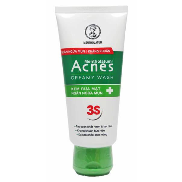 Acnes Creamy Wash - Kem rửa mặt trị mụn Acnes