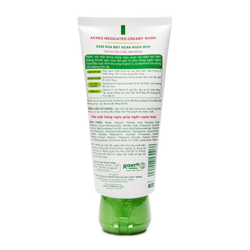Acnes Creamy Wash - Kem trị mụn Acnes