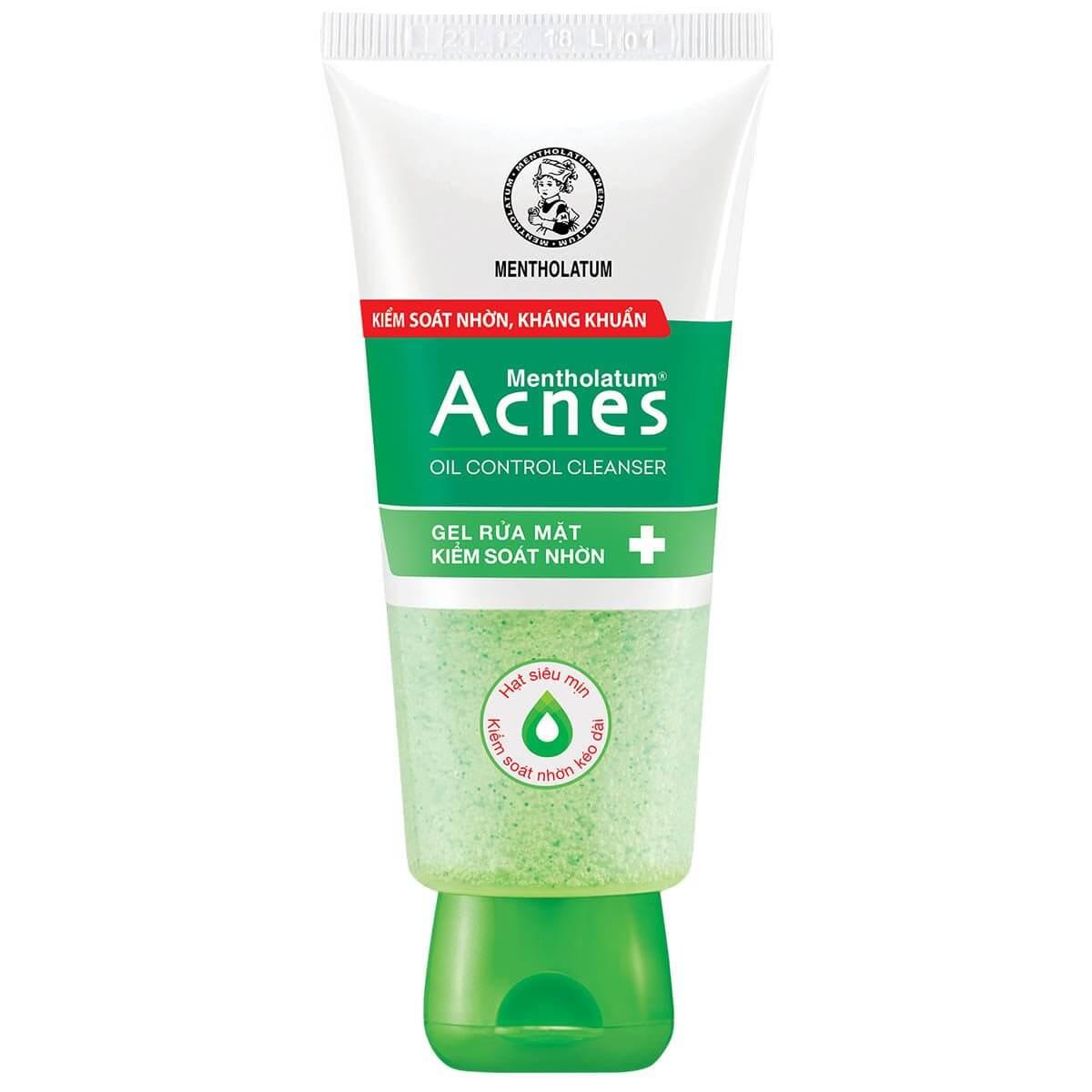 Acnes Oil Control Cleanser Gel rửa mặt kiểm soát nhờn với các hạt siêu mịn giúp kiểm soát nhờn hiệu quả và tẩy da chết nhẹ nhàng
