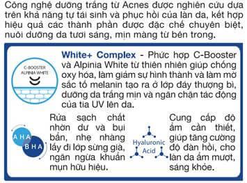 Acnes Pure White Cream: Kem dưỡng trắng da