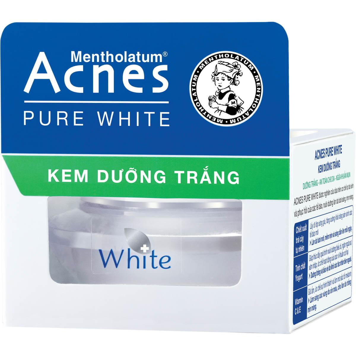 Acnes Pure White Cream - Kem dưỡng trắng da, tinh chất trái cây và yogurt