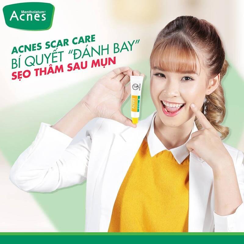 gel trị thâm mụn Acnes Scar Care giúp bạn chăm sóc da sau mụn an toàn