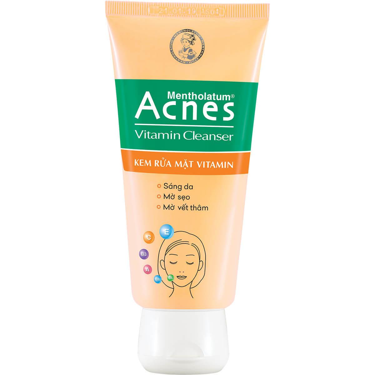 Acnes Vitamin Cleanser - Kem rửa mặt dưỡng da