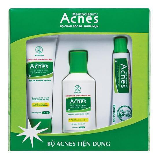 Bộ sản phẩm Acnes tiện dụng - Trị mụn hiệu quả