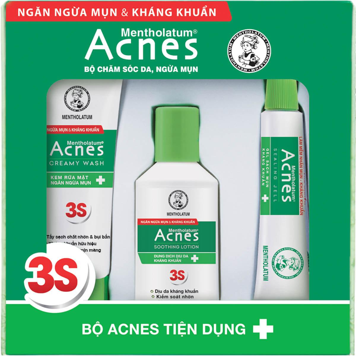 Bộ sản phẩm Acnes tiện dụng - Acnes Trial Set nhỏ gọn
