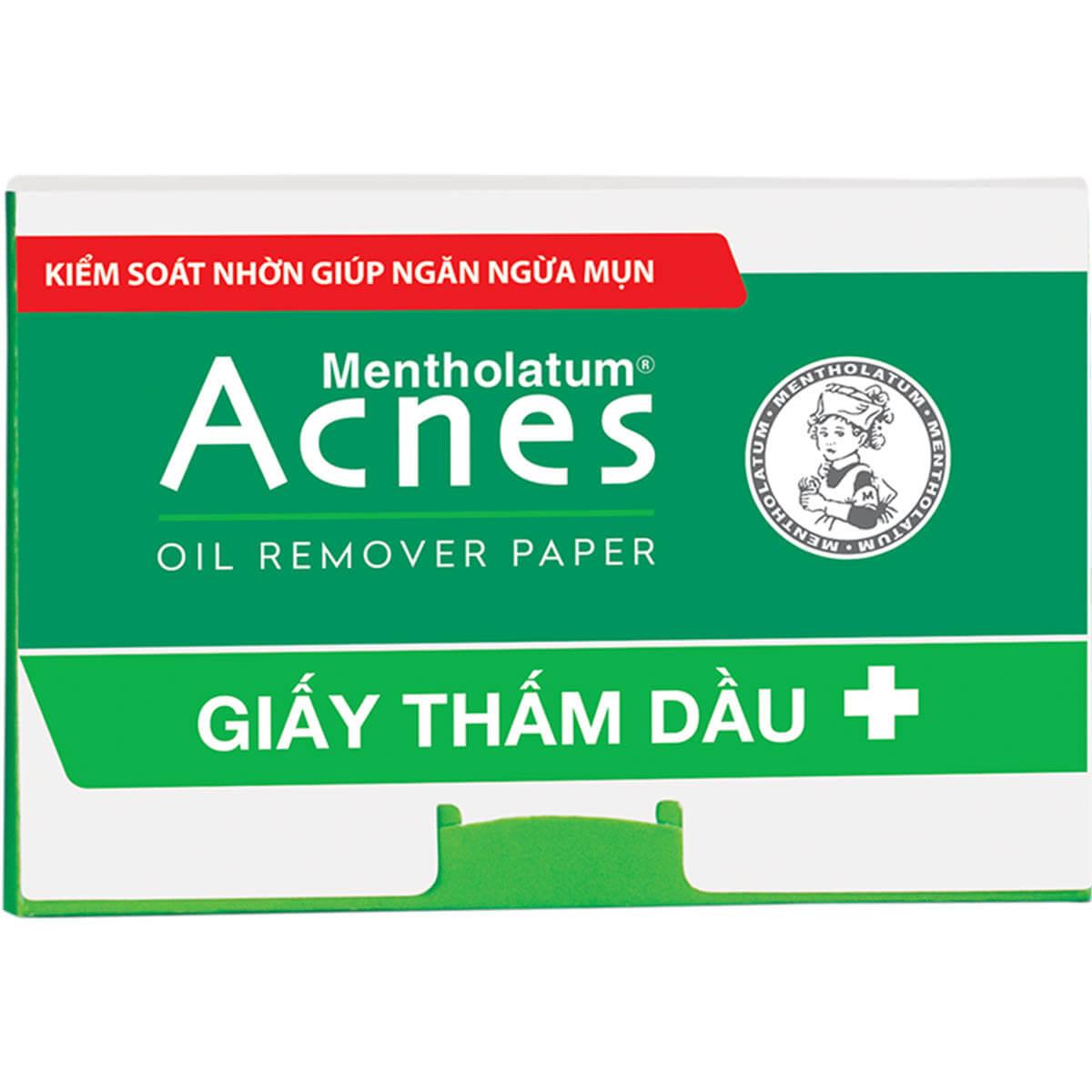 giay tham dau acnes oil remover paper giup lay di ba nhon du thua tren be mat da lam thong thoang lo chan long