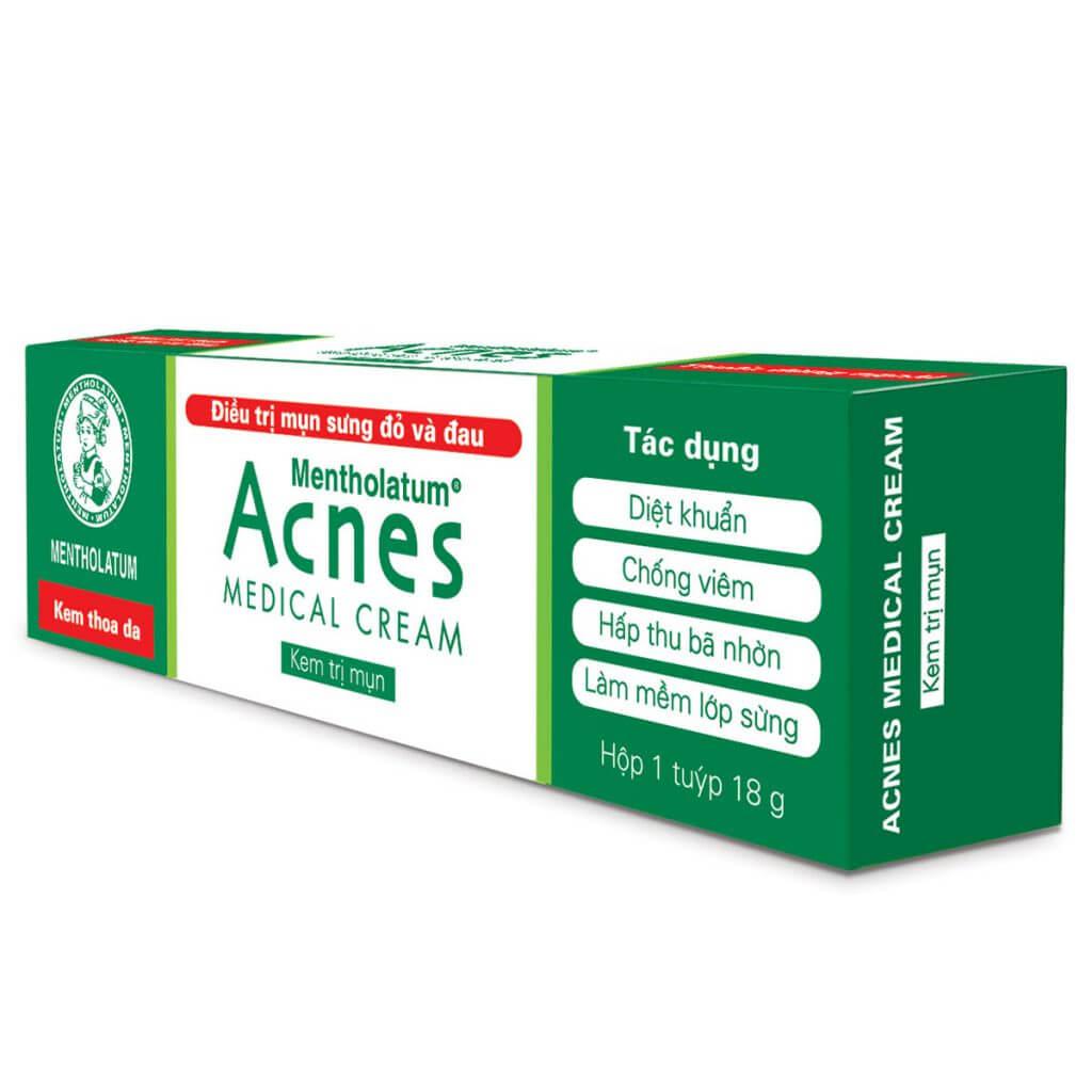 kem tri mun acnes medical cream dieu tri mun trung ca sung to co mu