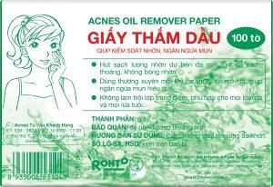 Mặt sau giấy thấm dầu Acnes