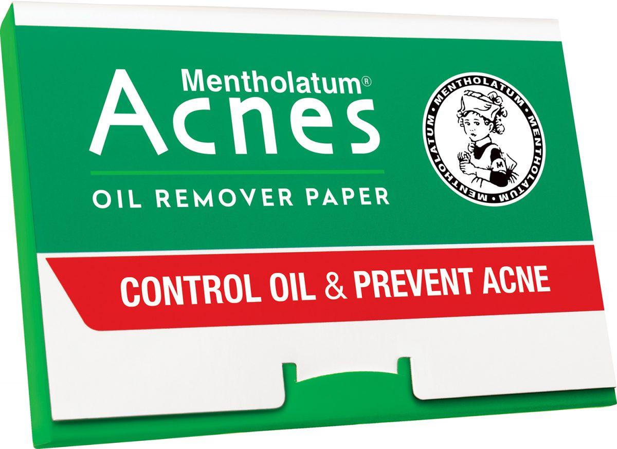 Mặt trước giấy thấm dầu Acnes