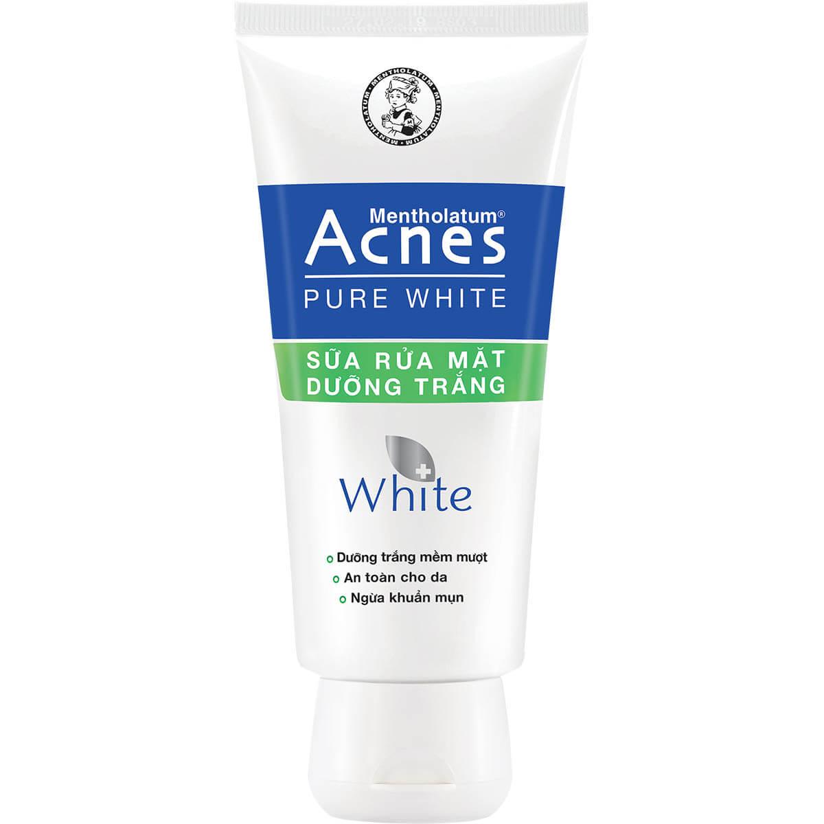 Acnes Pure White Cleanser - Sữa rửa mặt dưỡng trắng da, ngăn ngừa mụn