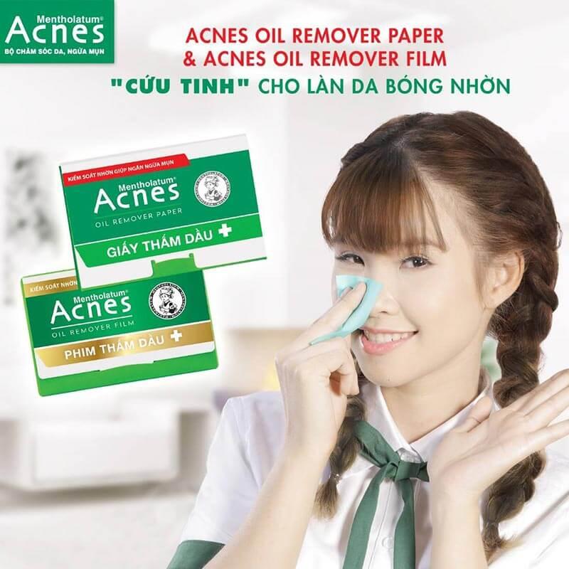 giấy thấm dầu và phim thấm dầu cũng là một cách trị mụn bọc hiệu quả