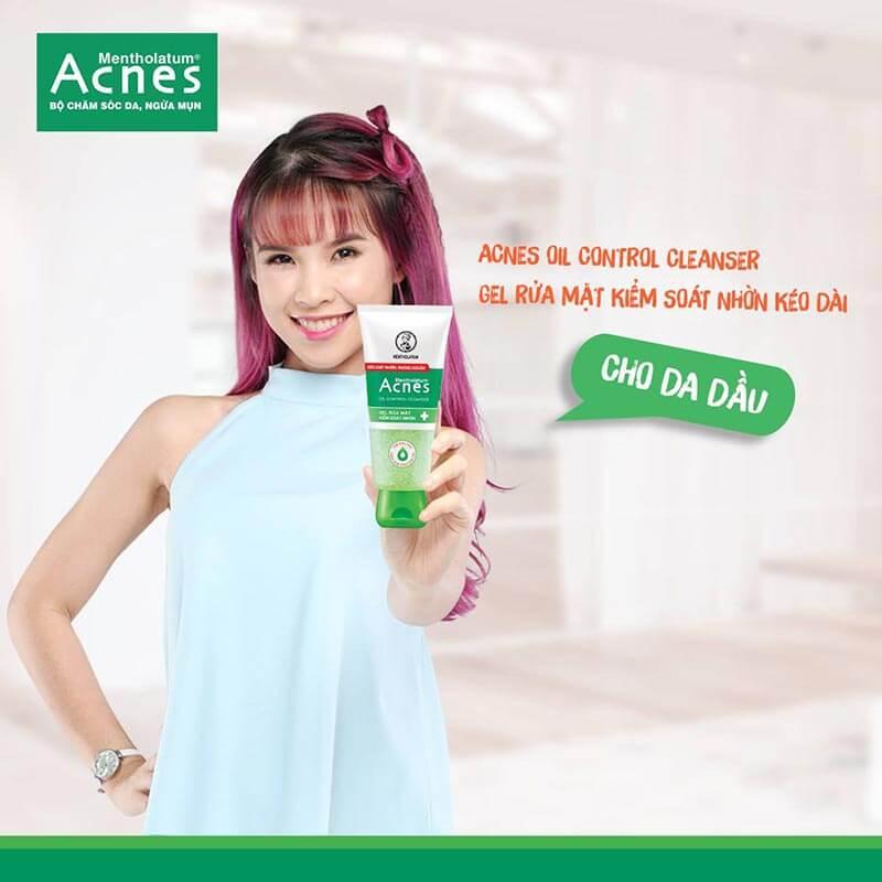 cách trị mụn bọc với sửa rữa mặt acnes oil control cleanser đặt trị kiểm soát mụn cho da dầu