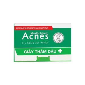 giấy thấm dầu acnes bảo vệ da khỏi bít lỗ chân lông