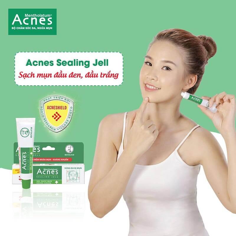 trị mụn đầu đen, trị mụn đầu trắng hiệu quả nhờ acnes sealing jell