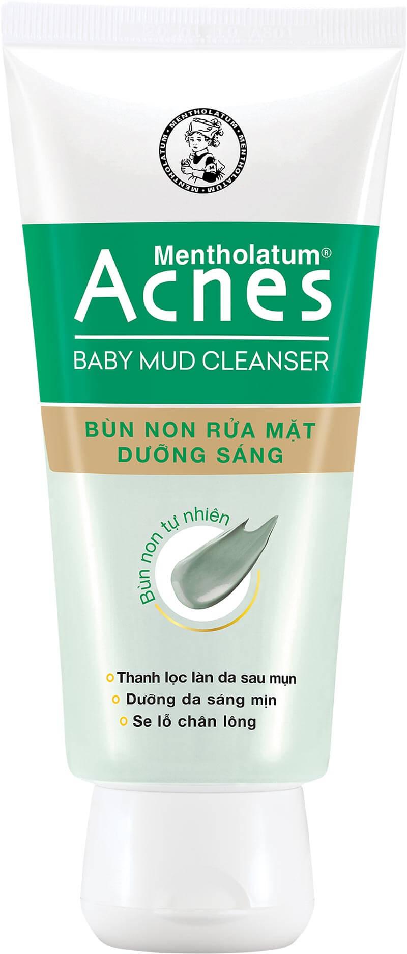 Bộ đôi Acnes Baby Mud review có gì hấp dẫn cho làn da sau mụn?