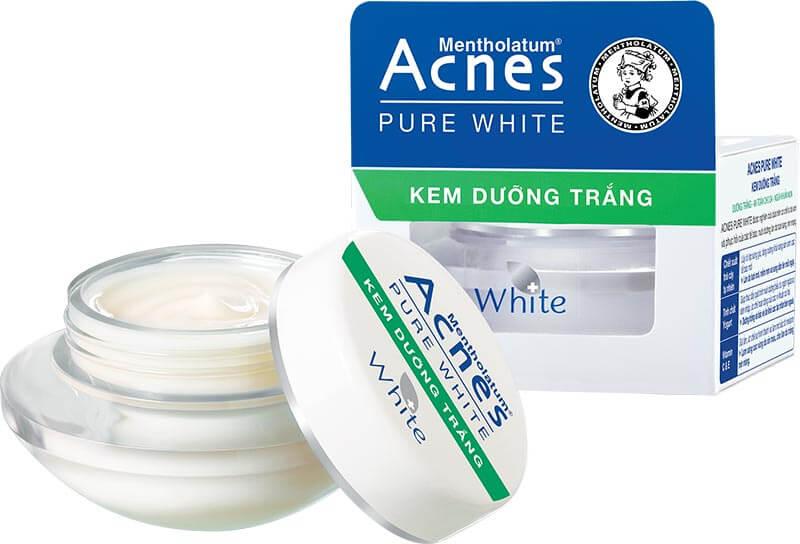 bộ đôi acnes pure white với dòng sản phẩm kem dưỡng trắng acnes pure white cream
