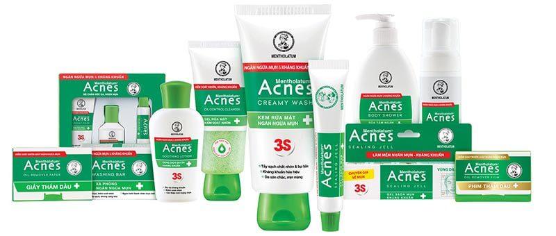 bộ sản phẩm trị mụn acnes 3s vượt trội sạch mụn, an toàn cho da