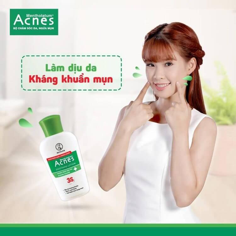sản phẩm acnes làm dịu da trị mụn tuổi dậy thì