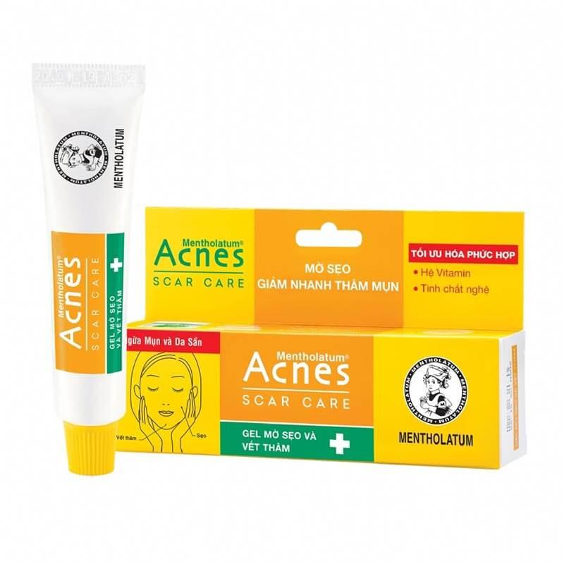 gel mờ vết thâm, trị sẹo trong Quy trình ngăn chăm sóc da sử dụng sản phẩm ngăn ngừa mụn cùng acnes