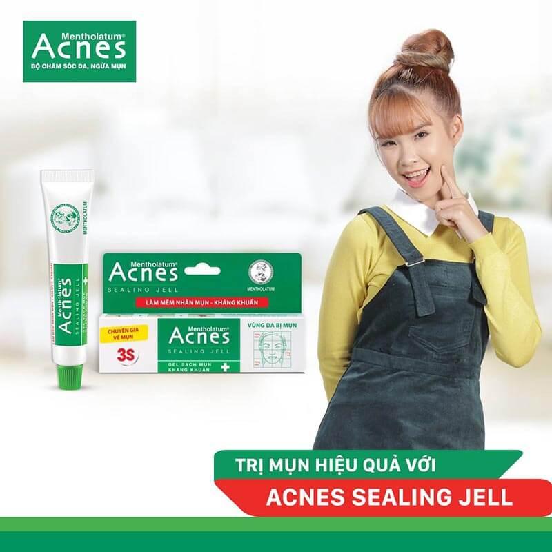 Gel trị mụn Acnes Sealing Jell có trị mụn tận gốc không?