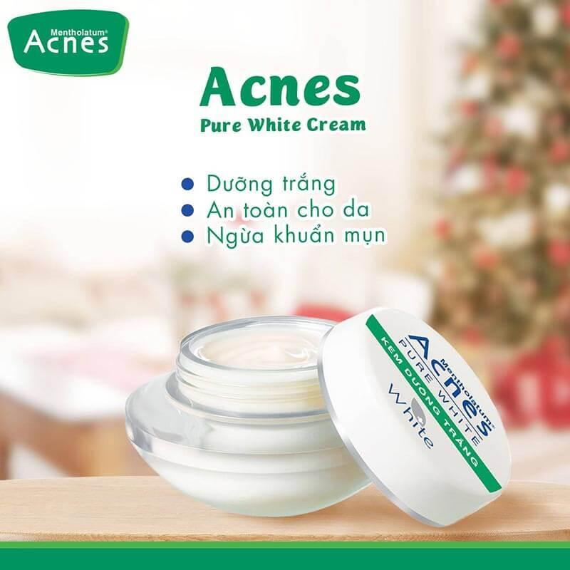 Kem dưỡng trắng Acnes Pure White Cream nuôi dưỡng làn da trắng mịn