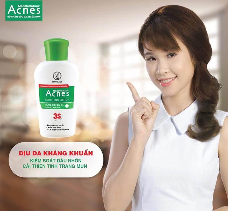 Acnes Soothing Lotion giúp mang đến làn da khỏe mạnh, nói không với mụn
