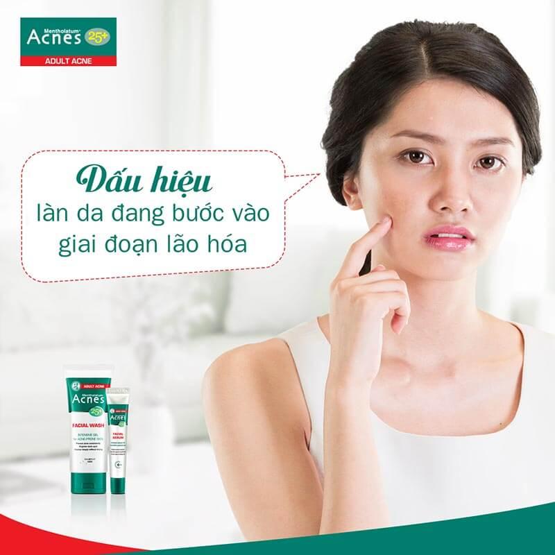 bộ đôi acnes 25+ chăm sóc da 25 tuổi trở đi tránh lão hóa và dẫn đến tình trạng mụn tuổi trưởng thành khó điều trị