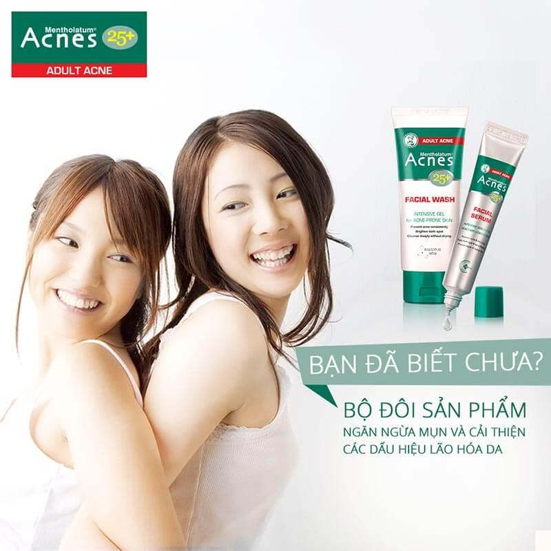Bước vào tuổi 25, làn da của phụ nữ bắt đầu bước vào giai đoạn lão hóa và da dễ dàng bị mụn . Cùng Acnes khám phá bộ đôi Acnes 25+ để trị mụn và chống lão hóa ở tuổi trưởng thành