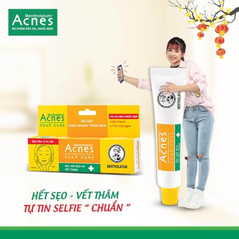 Cùng Acnes Scar Care chăm sóc da sau mụn tốt, trị thâm hiệu quả với sản phẩm Acnes Scar Care