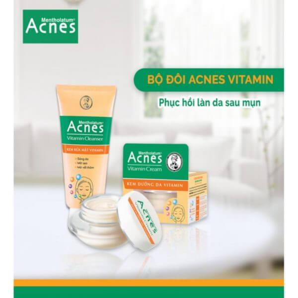 phục hồi da sau thương tổn với acnes vitamin