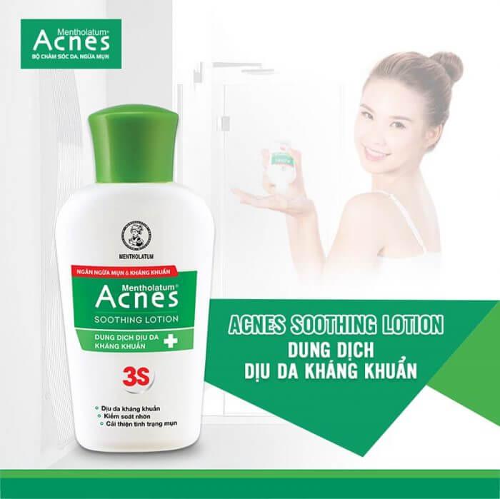 Bí quyết trong quy trình skincare của con gái Hàn chính là lotion. Acnes mang đến cho bạn Acnes Soothing Lotion- an toàn và dịu nhẹ với mọi làn da.