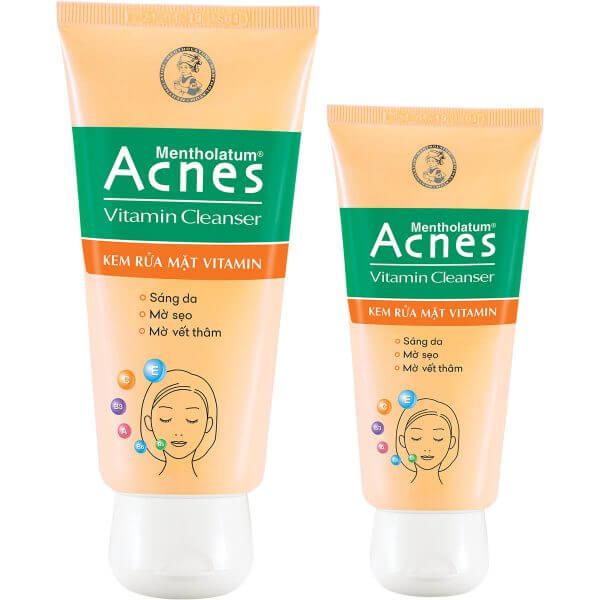 acnes vitamin cleanser la sua rua mat cung cap vitamin va cac duong chat can thiet de lam sach lan da