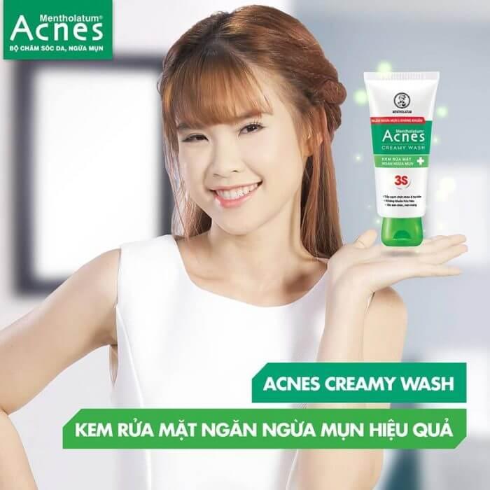 sữa rửa mặt Acnes trị mụn