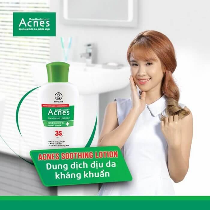 Lotion Acnes giúp giảm nhờn, dịu da và kháng khuẩn