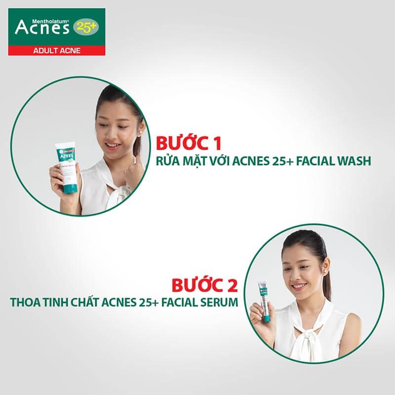 Những lưu ý về cách sử dụng sản phẩm Acnes 25+ sao cho thật sự hiệu quả.