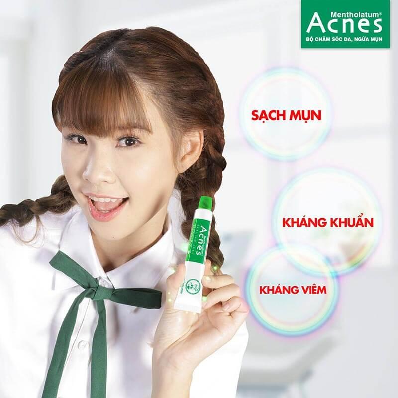 Cùng tìm hiểu về gel trị mụn Acnes . Sản phẩm đánh bật mụn , xua tan mọi lo lắng cho các nàng tuổi teen.