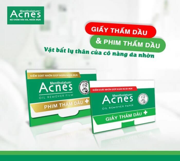 Giấy thấm dầu Acnes - Giải pháp cho da trong những ngày nắng nóng