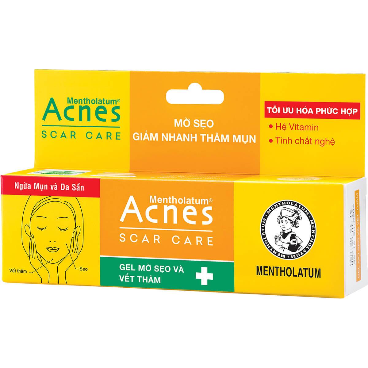 gel tri tham acnes scar care voi tinh chat nghe va cac loai vitamin giup tri seo va tham mun hieu qua