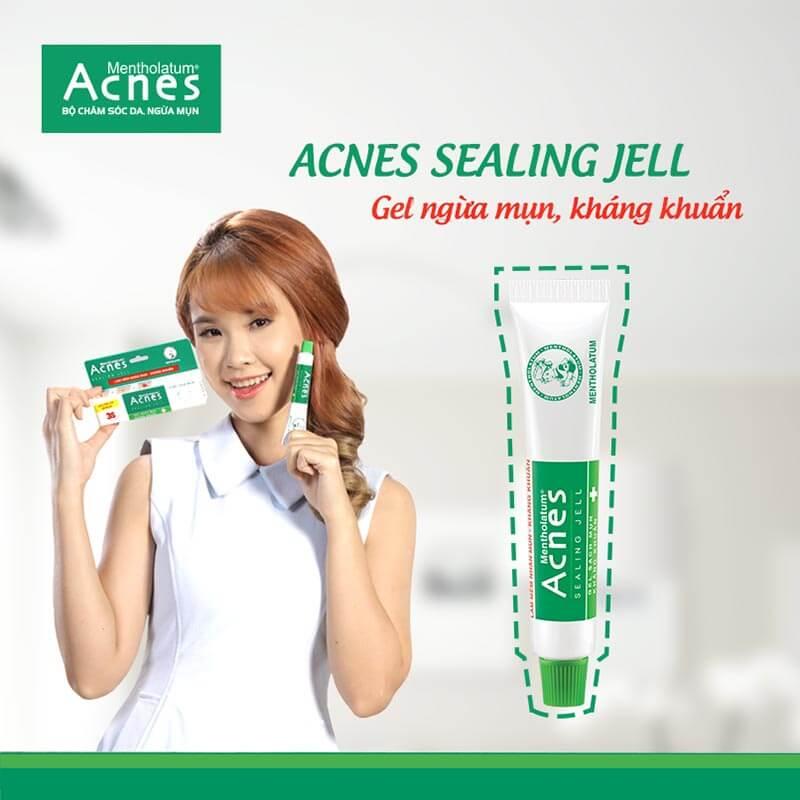 Acnes Sealing Jell gel trị mụn sử dụng cho những vùng da có mụn nhỏ như mụn đầu đen, đầu trắng