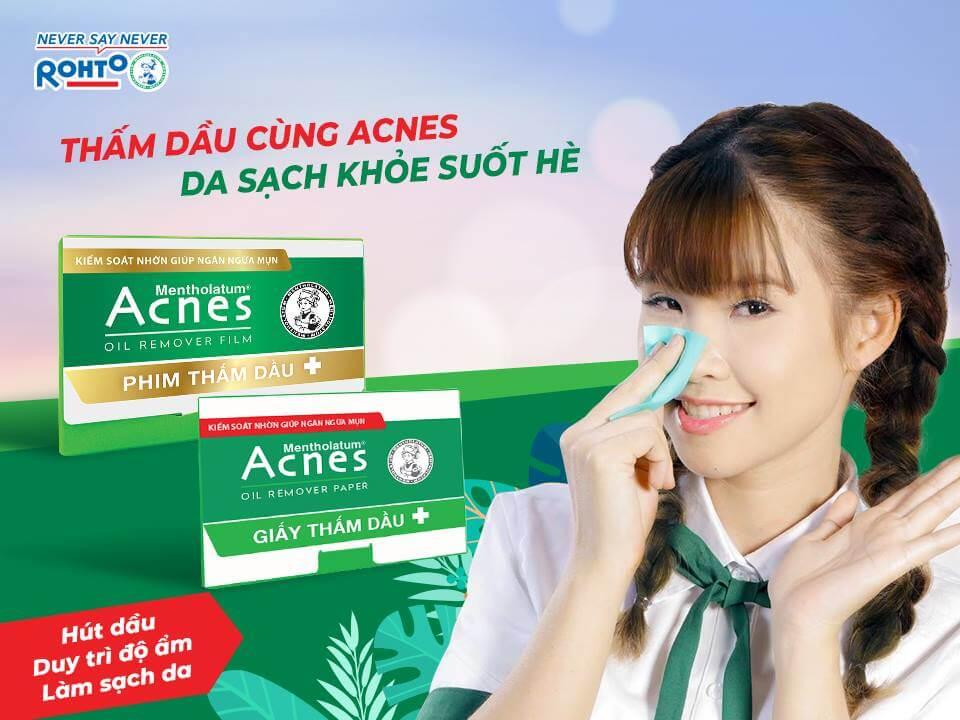 Phim thấm dầu Acnes ngăn chặn bóng nhờn