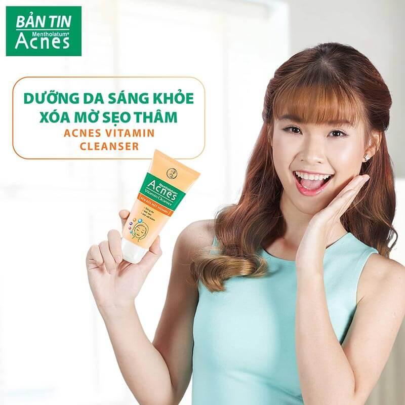 Cùng khám phá về sản phẩm sữa rửa mặt Acnes Vitamin Cleanser