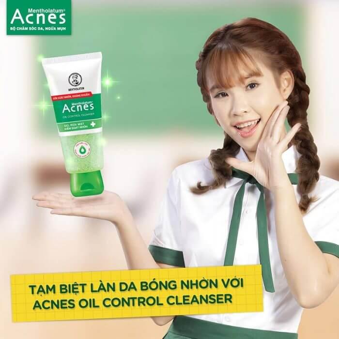 Da nhờn khiến cho các cô gái luôn tự ti và ngại ngùng. Sữa rửa mặt Acnes Oil Control Cleanser. giải pháp hữu hiệu giúp kiểm soát và điều tiết chất nhờn trên da.