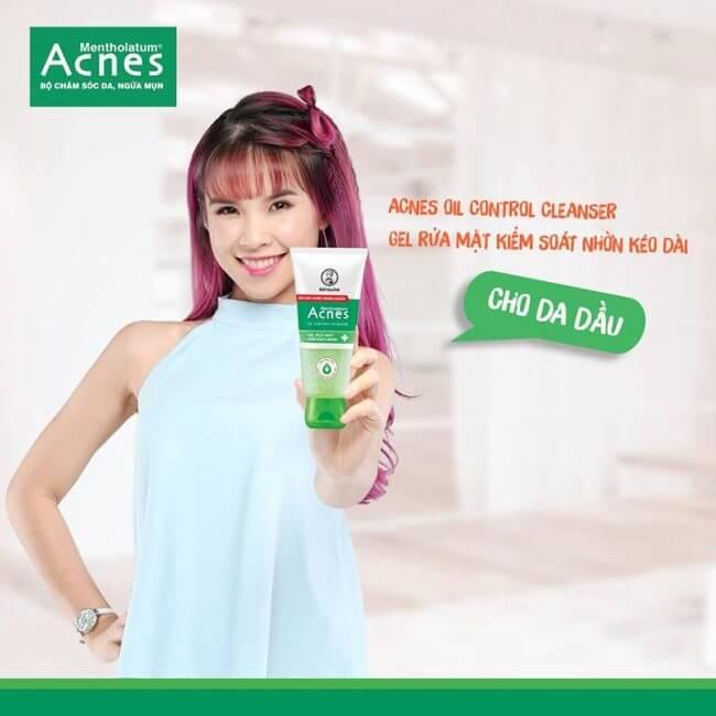Một số lời khuyên khi sử dụng sữa sửa mặt Acnes Oil Control dạng gel.