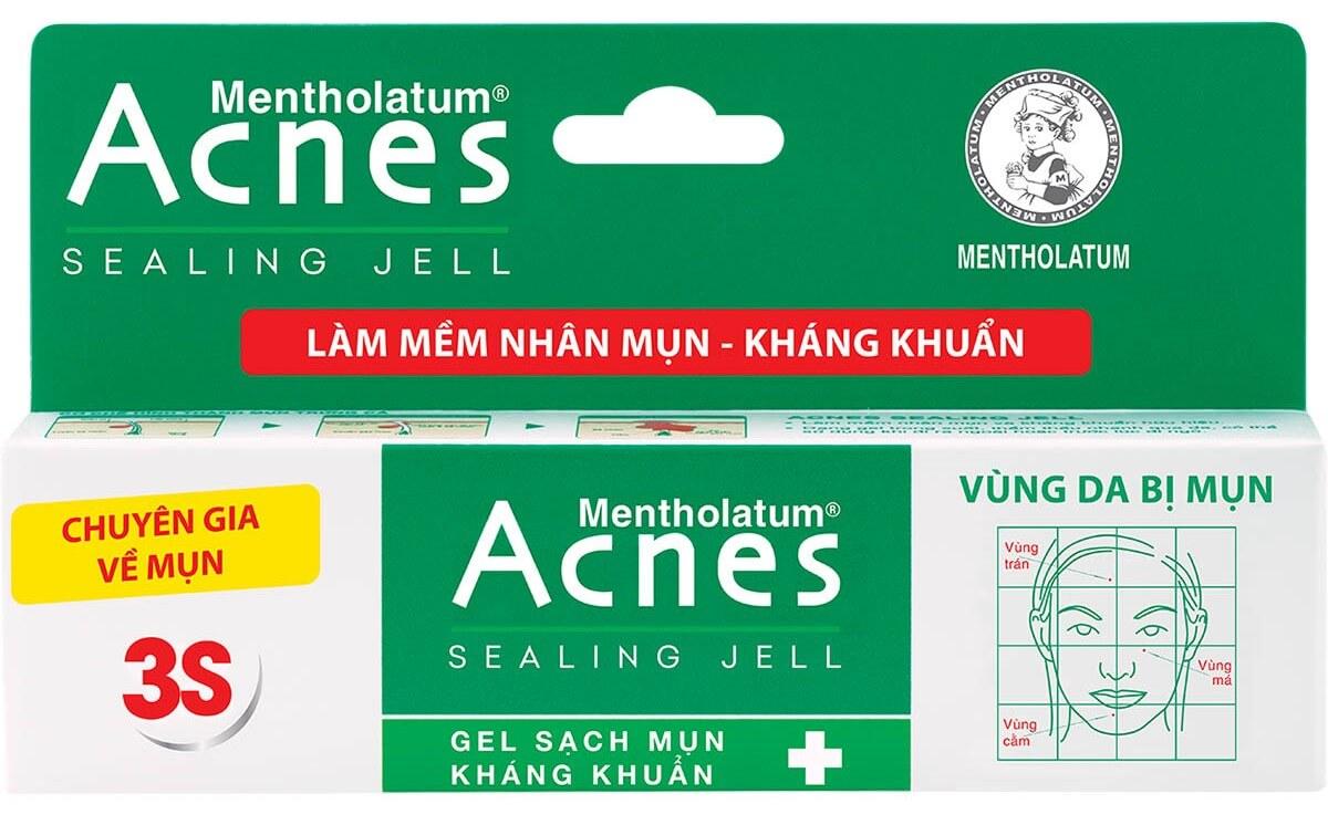 Trị mụn đầu trắng hiệu quả với Acnes Sealing Jell