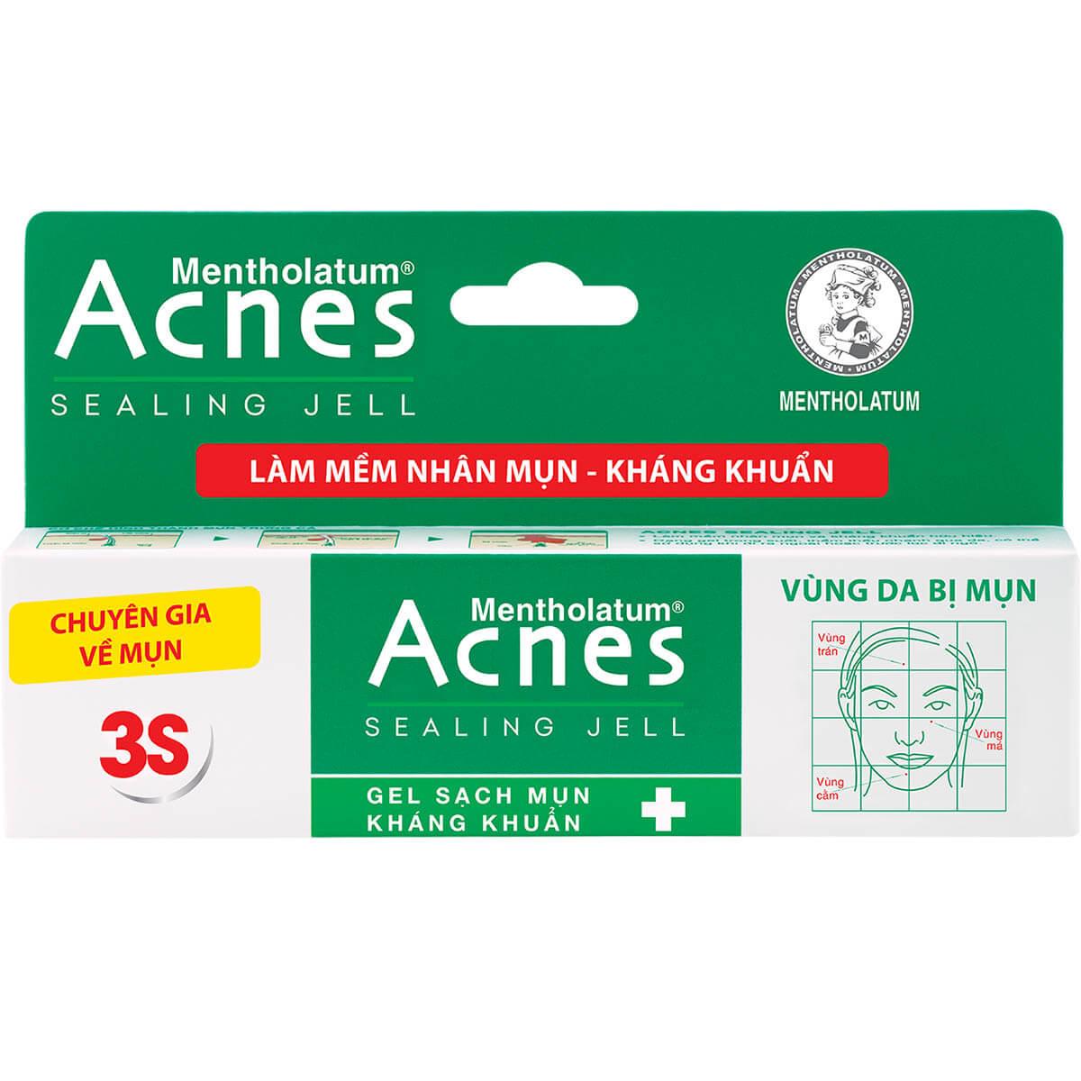 trị mụn với Acnes Sealing Jell