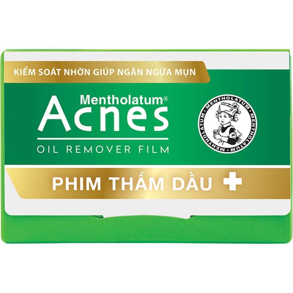 phim tham dau Acnes Oil Remover Film giup tham dau ma khong tham mo hoi, cho lan da sach nhon dau ma van giu duoc do am min mang