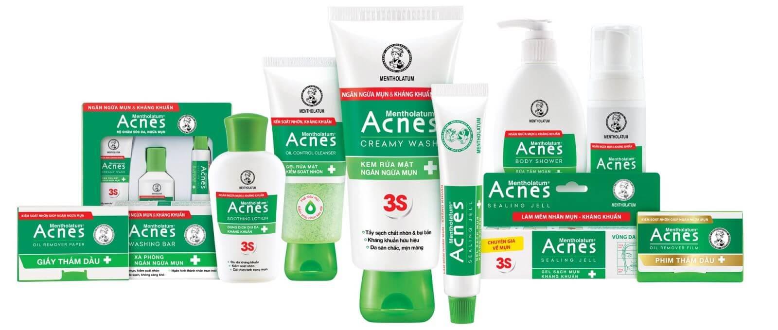 nhan hang acnes, thuong hieu acnes, acnes tri mun, san pham acnes
