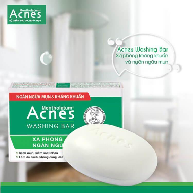 Giải pháp an toàn cho việc trị mụn toàn thân: xà phòng Acnes Washing Bar