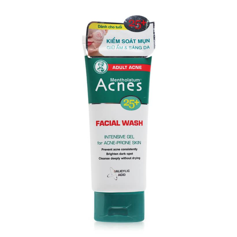 gel rua mat sach da acnes 25+ facial wash